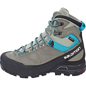 Salomon X Alp Mountain GTX Hiking Shoes Women Shadow/Castor Gray/Enamel Blue